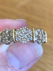 1 Carat Untreated Champagne Diamond Ring Size M