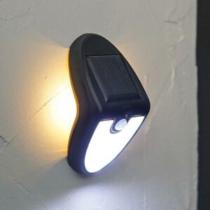 Solar Power LED PIR Motion Sensor Security Welcome Wall Light   Outdoor Garden