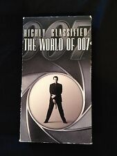 VHS HIGHLY CLASSIFIED: THE WORLD OF 007 JAMES BOND 1998 PROMO DESMOND LLEWELYN