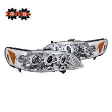 Honda Accord 98-01 2/4 Dr 4cly V6 Chrome Projector Halo LED Headlights Inspire