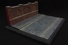 1:35 Cobble Stone Road & Sidewalk & Wall RedBricks Diorama
