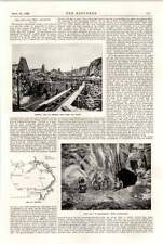1898 Swedish Iron Mining Bergsbo Bredsjobrott Grangesberg Export Field Map
