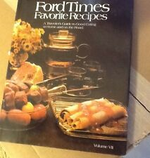 Vintage color illustrated FORD MOTOR CO Cookbook Restaurant Recipes US & Canada