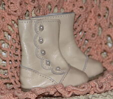 Jasmines Cottage Design Victoria Leather Boot Ivory SD 70mm fits Wiggs & Lasher