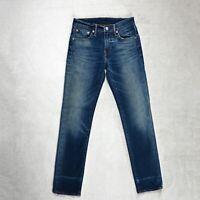 Mens LEVIS 511 Jeans Size W28 L32 Slim Fit Tapered leg Stretch Denim Zip Dark
