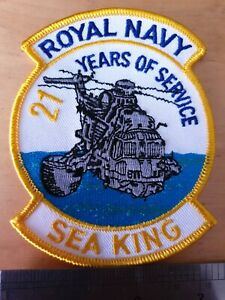 Royal Navy Sea King Patch/Badge. 21 Years of Service Box 2