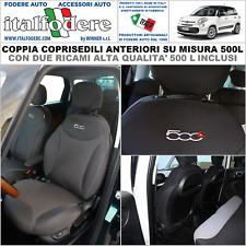 COPPIA COPRISEDILI Fiat 500L SU MISURA Fodere Foderine SOLO ANTERIORI Antracite