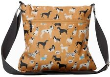 Dogs Crossbody Shoulder Bag Mustard Yellow Pug Westie Boxer Scottie Dog Handbag