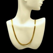 PARK LANE Vintage Elegant Interlocking Chain Necklace Gold Plated Very Classy