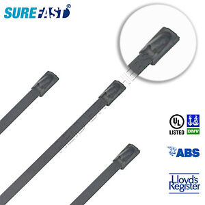 SureFast Coated Stainless Steel Ball Lock Cable Ties (4.6mm, 304)