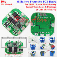 4S 10A 14.8V 16.8V 18650 Li-ion Lithium Battery Charger BMS Protection PCB Board