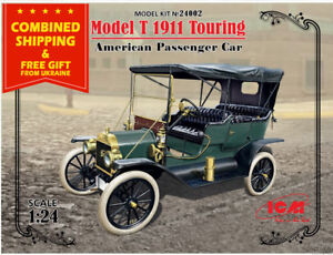 ICM 24002 - 1/24 - Model T 1911 Touring, American Passenger Car scale model kit