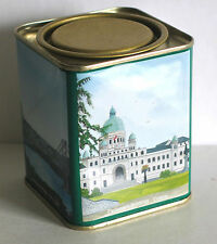 "Metal Tea Tin with Scenes Vancouver Victoria BC Canada Souvenir 3.75"" FREE SH"