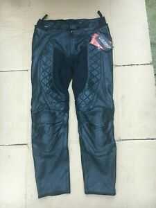 """RST Madison Ladies Leather Motorcycle Jeans Trousers UK 16 or 34"""" Waist (LB13)"""
