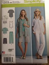 Simplicity Sewing Pattern 1203 Misses Wardrobe Pattern Sizes 10-18 New