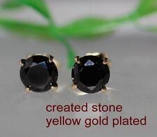 7mm 2ct black sapphire studs earring