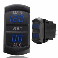 LED Digital Display Dual Voltmeter Voltage Gauge Battery Monitor Panel Car Boat