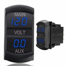 LED PANTALLA DIGITAL DOBLE Voltímetro indicador de voltaje batería PANEL
