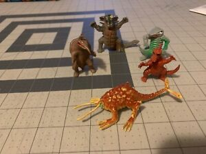 Vintage Lot 5 Chinasaurs D&D Plastic Monsters Rust Monster Hong Kong