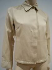 LORO PIANA Beige 100% Cotton Collared Long Sleeve Boxy Blazer Jacket IT42; UK10