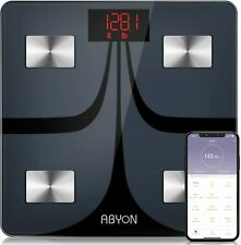 ABYON Bluetooth Smart Bathroom Scales for Body Weight Digital Body Fat Scale