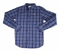 Columbia Mens Shirt Blue Size Medium M Plaid Print Pocket Button Up $50 #198