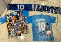 1 Maglia fotografica + sciarpa celebrativa Maradona Napoli Argentina diego D10S