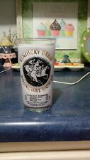 1966 KENTUCKY DERBY GLASS FRESH OUT OF CASE AWESOME SHAPE