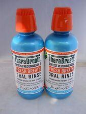 TheraBreath  Fresh Breath Oral Rinse  Icy Mint Flavor, 16oz each (2pks) exp 2022