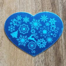 HEART CHRISTMAS SNOWFLAKE NAIL ART STAMPING PLATE IMAGES STAMPER MANICURE POL...