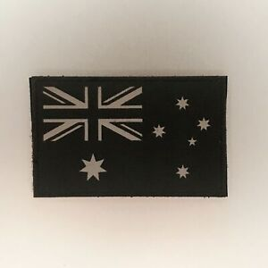 Australian Flag Patch — Badge Embroidered Hook and Loop — IR Tactical Military