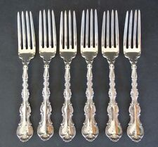 "Set of 6 Gorham Sterling Silver 7"" Dinner Forks ~ Strasbourg Pattern"
