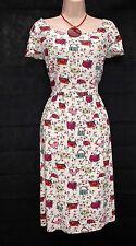 TU SIZE 14 SUMMER TEA DRESS HANDBAG SHOE PRINT KITSCH BOHO STUNNING  US 10 EU 42