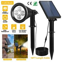 Waterproof Outdoor Garden LED Solar Spot Lights Lawn Garden Landscape Lighting