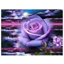 Purple Flower 5D Diamond Embroidery Painting Home Decor Craft Cross Stitch