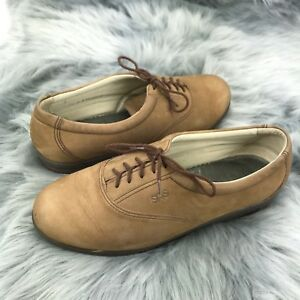SAS Womens US 9.5 Suede Oxford Tripad Comfort Walk Easy Lace Up Brown Shoes
