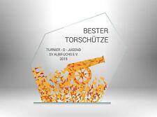 Glaspokale Pokale FUSSBALL BESTER TORSCHÜTZE günstig kaufen TOP DESIGN