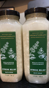 2 EUCALYPTUS SPEARMINT STRESS RELIEF BATH & BODY BODY WORKS Bath soak