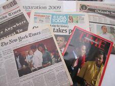 American president - Obama inauguration newspapers & Time magazine 2009