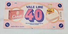 Camay Buono Acquisto Saponetta Vale 40 Lire Valido Fino Al 31.8.1974