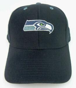 SEATTLE SEAHAWKS NFL FOOTBALL NAVY BLUE REEBOK REPLICA ADJUSTABLE CAP HAT NEW!
