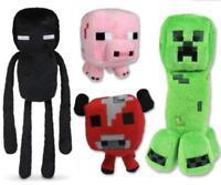 Minecraft Plush Toys (4Pcs-Creeper , Enderman ,Cow & Pig)