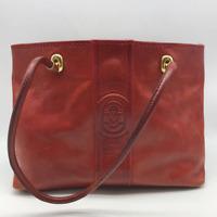 Marino Orlandi Red Leather Shoulder Bag