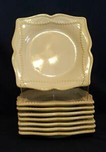 Princess House PAVILLION Stoneware Square Salad Dessert Plates * EXQUISITE *