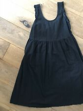 Asos Black Midi Frill Sleeve Dress Size 10 Pockets