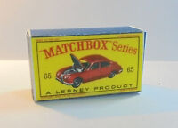 REPRO BOX MATCHBOX 1:75 n 65 JAGUAR 3,8 Sedan