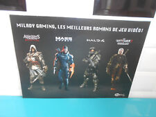 Poster affiches livre Milady gaming Mass effect Halo 4 Assassin's creed witcher
