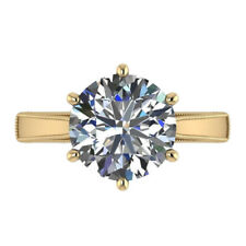 3.00 Ct Diamond Solitaire Wedding Ring 14k Solid Yellow Gold Anniversary Ring 56