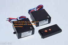 12v 2 channels on off dry contact relay long range remote control switch RP201P