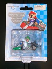 "Mariokart Ready to Race WII Die Cast Car 1.5"" inch Super Mario Figurines Luigi"